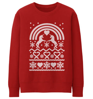 Unicorn Christmas Jumper Ugly Funny Magical Men Women Kid Xmas Gift Work Party