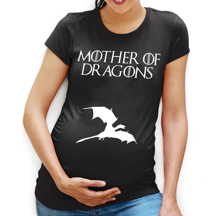 Mother of Dragons Pregnant T-Shirt Maternity Game Baby Shower of Thrones L104