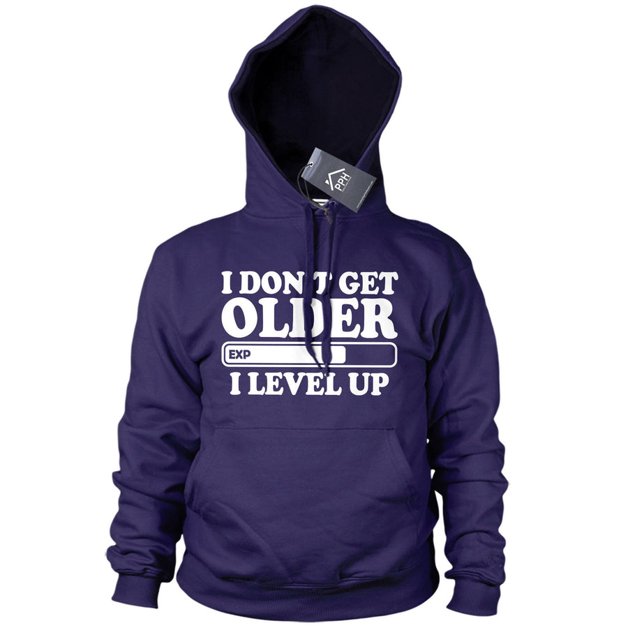 Don't Get Older I Level Up Gaming Gamers Geek Funny Hoody Dads Present Mens 513