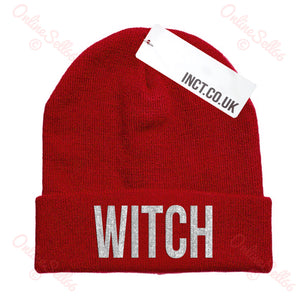 Witch Knitted Woolly Swag Winter Mens Indie Beanie Beenie Cap Hat Hipster Goth
