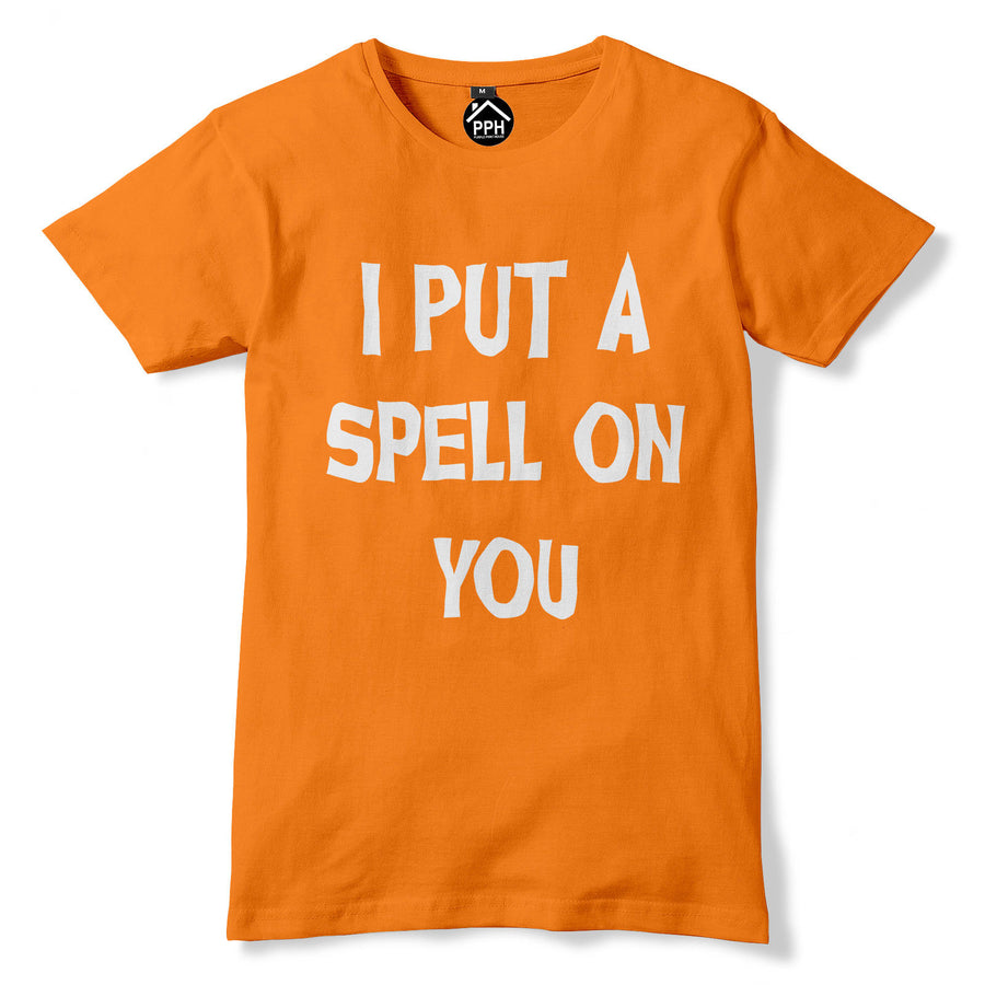 I Put a  Spell on You Tshirt Spooky Witch Outfit Halloween Fancy Dress 341
