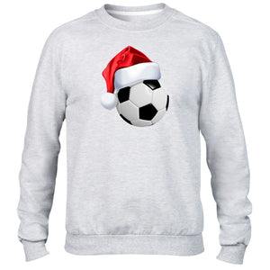 Football Ball Christmas Hat Sweater Jumper Santa Kids Children's Footballer