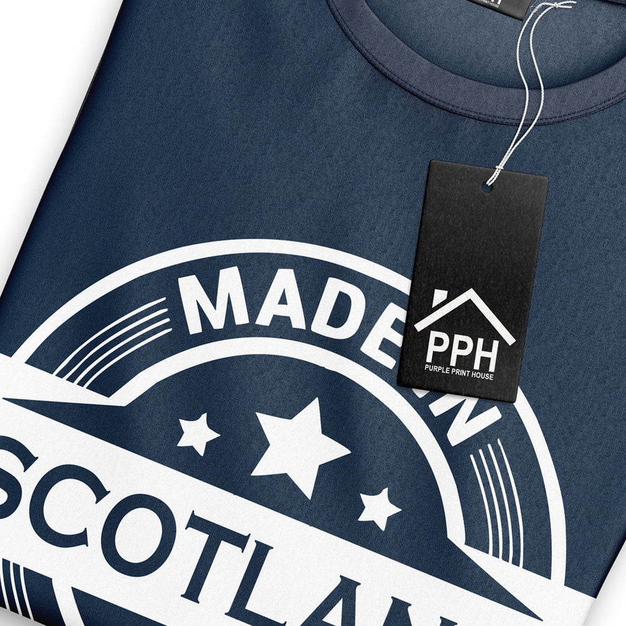 Made In Scotland T Shirt Football Birth Scottish Rugby T-Shirt Flag Top 869