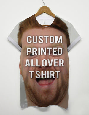 Custom Printed All Over Tshirt Top Customised Personalised Men Your Picture Gift