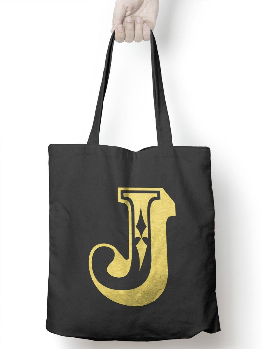 J Rose Letter Tote Bag Personalised Novelty Gift Womens Bag For Life Shopping