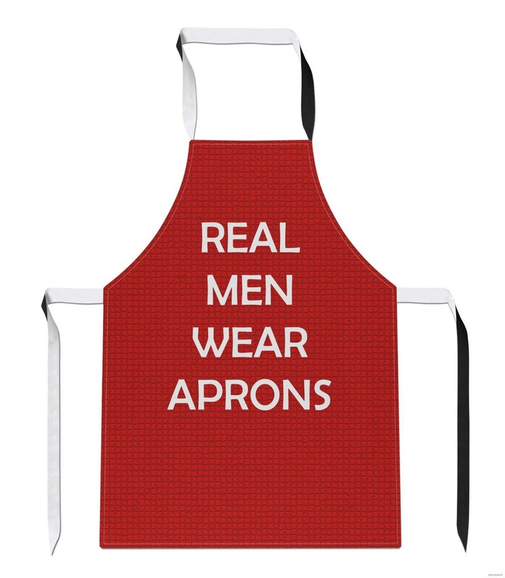 Real Men Wear Aprons Fathers Day Dad Gift Geek Cook Kitchen BBQ APRON Tabard A41