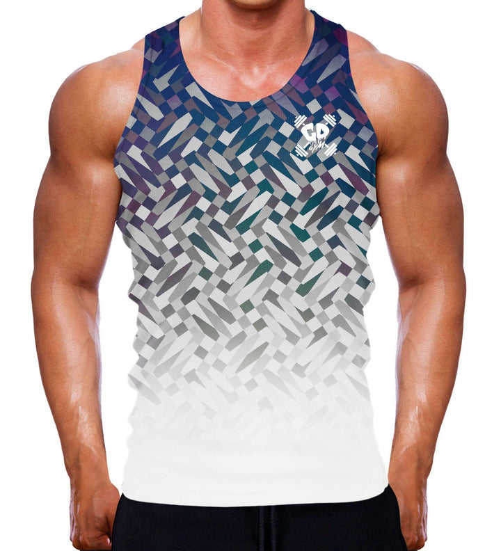 Ganesha invert all over print vest tank top sleeveless singlet elephant god men