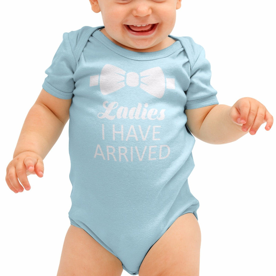 Ladies I Have Arrived Funny Tuxedo Baby Grow  Babygrow Rompie Body Suit B27