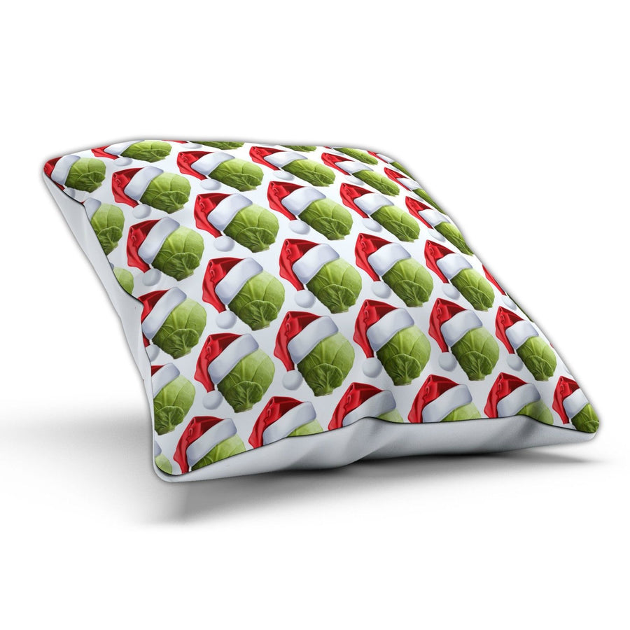 Sprout Hat Cushion Pillow Funny Festive Christmas Dinner Present Gift Novelty