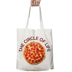 Pizza Circle of Life Pepperoni Top Funny Food Shopper Tote Bag Shopping Gift 510