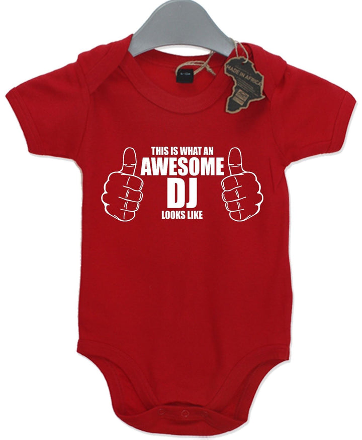 Awesome DJ Gift Girl Baby Funny Music Decks Boy Girl Present Unisex Play Suit