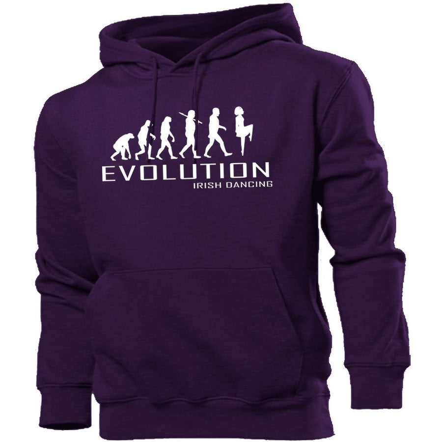 Irish Dancing Evolution Hoodie Men Women Kids Club Gym Step Ireland Costume, Main Colour Purple