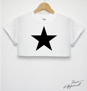 Star Crop Top T Shirt Hipster Girls Indie Women Street Wear Swag Space Galaxy