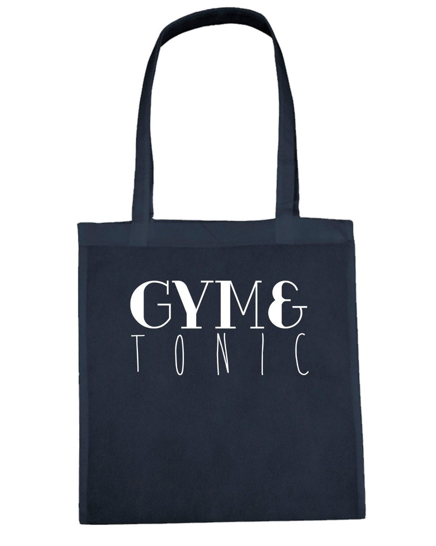 Gym And Tonic Shopping Tote Bag Gin Fitness Muscle Girls Lift Clean Alcohol M22