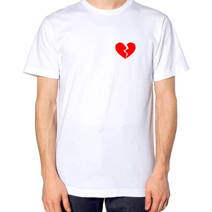 Heartbroken Logo T Shirt Fashion style Hipster Valentines Day Love Single EM151