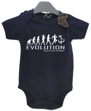 Evolution Scottish Rugby Baby Grow Unisex Babies Playsuit Rugger Scotland Baby