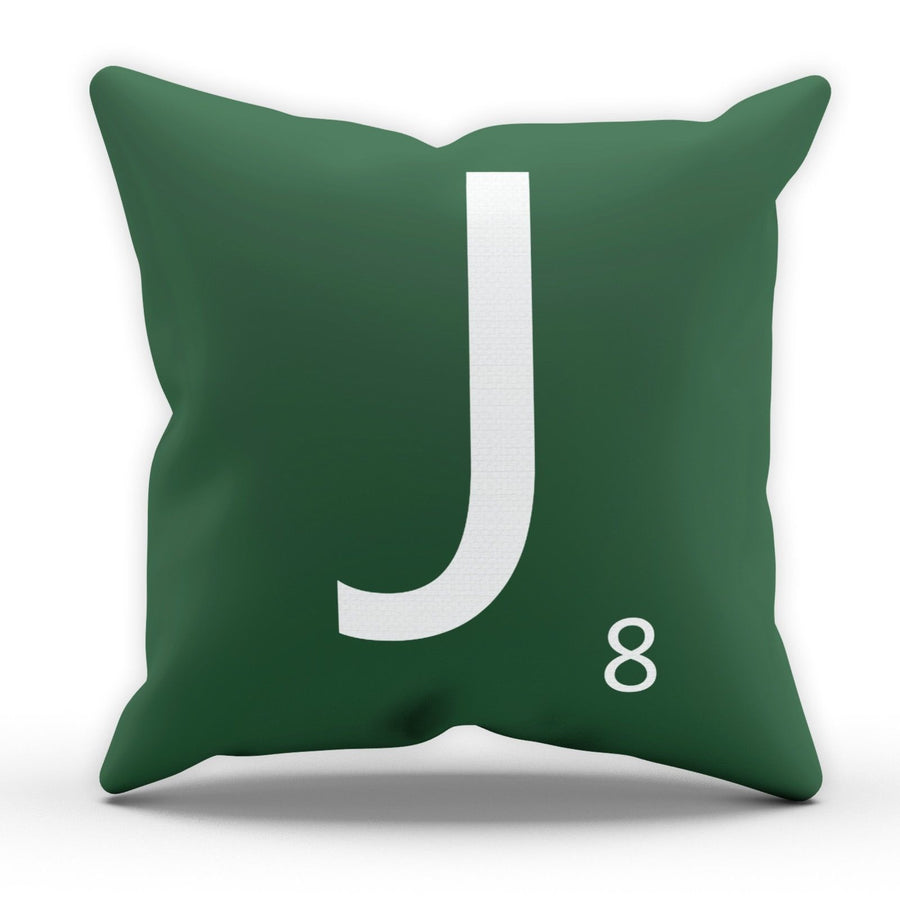 Letter J Scrabble Tile Game Pillow Cushion Pad Cover Case Bed Home Love Present