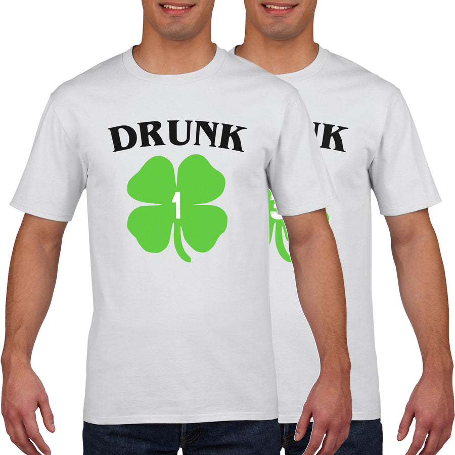 Drunk 1 Drunk 2 Womens Funny Best Friend St Patricks Day T-Shirt Men Ireland P28