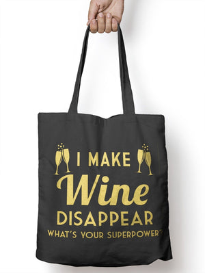 Make Wine Disappear Funny Tote Bag For Life Womens Shopper Shopping E35