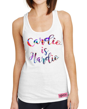 Cardio Is Hardio WHITE Womens Gym Vest Fitness Brand Apparel Uforia Workout U9