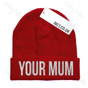 Your Mum Knitted Woolly Swag Winter Mens Indie Beanie Beenie Cap Hat Hipster