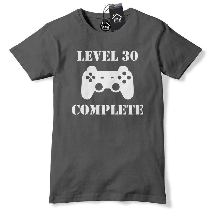 Level 30 Complete 30th Birthday T Shirt Mens Geek Fathers Day Gift Tee Top 643