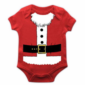 Santa Costume Baby Grow New Born Christmas Novelty Boy Girl Cute Xmas Gift JC24