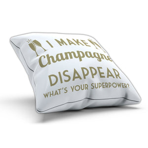 I Make Champagne Disappear Cushion Pillow Bed Funny Gift Novelty Drink Prosecco
