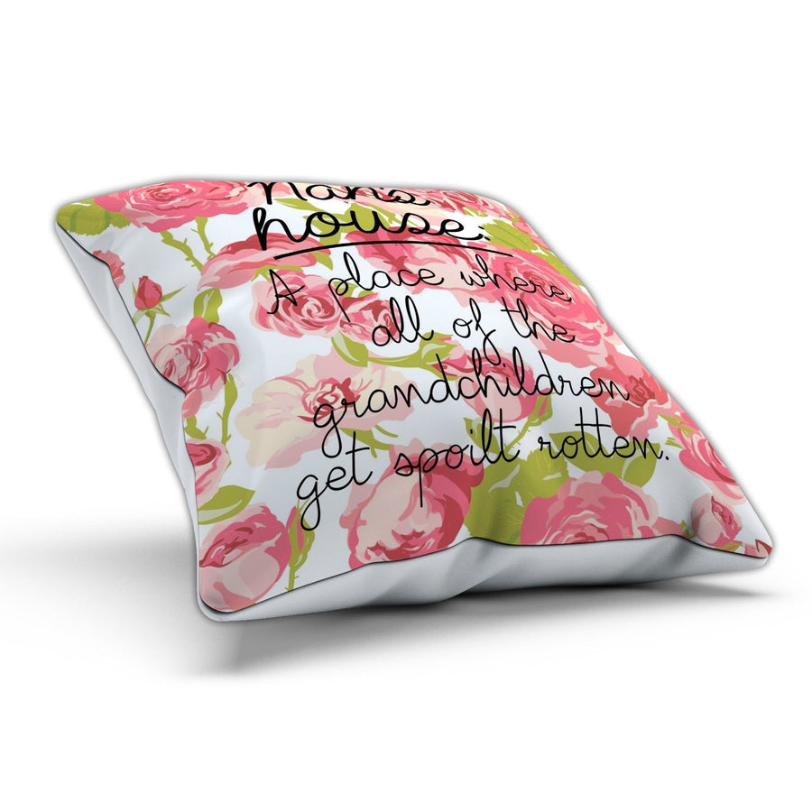 Nan's House Cushion Pillow Present Gift Funny Joke Birthday Mothers Day Mum
