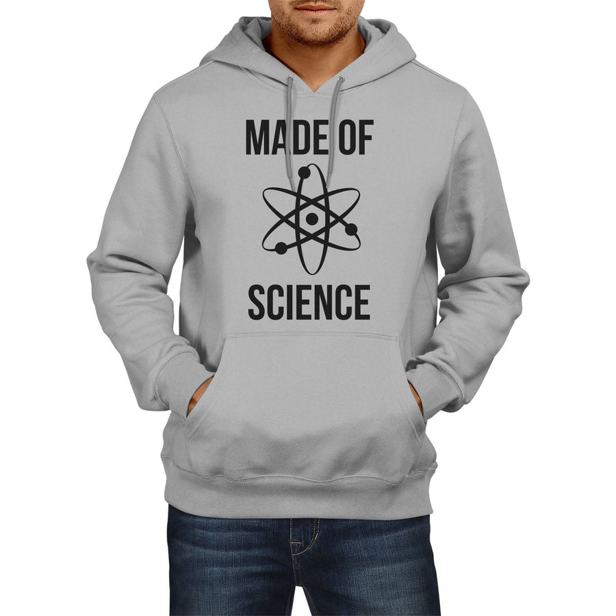 Made of Science Funny Mens HOODIE Atom School Lesson Geek Hoody Sweater E20