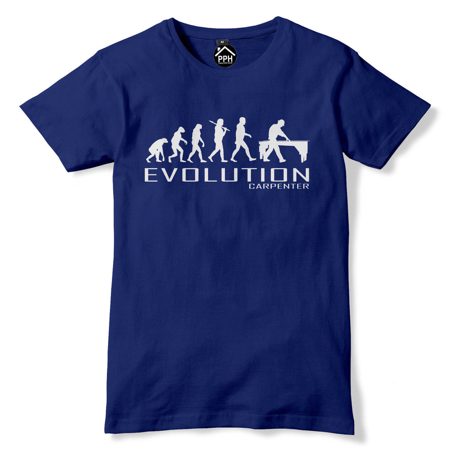 Carpenter Evolution Tshirt Chippy Mens Chainsaw T Shirt Trade Builder Wood PT29