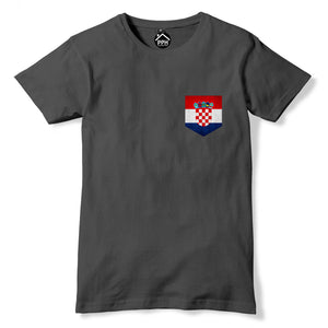 Vintage Print Pocket Croatia Tshirt Football Fans Modric Nations T Shirt 300