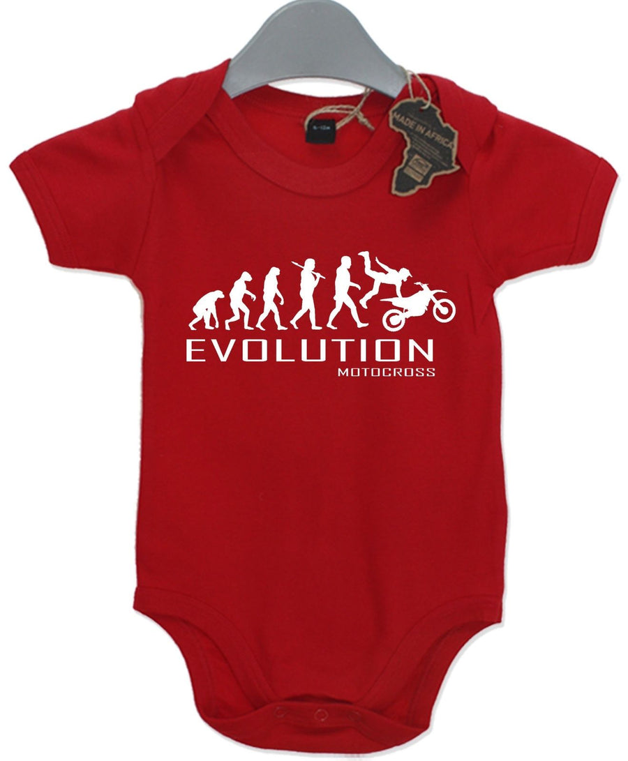 Evolution Motocross Baby Grow Unisex Babies Playsuit Bikes Baby