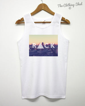 Rack City Vest Summer New York America Rapper Holiday Beach Triangle Hipster