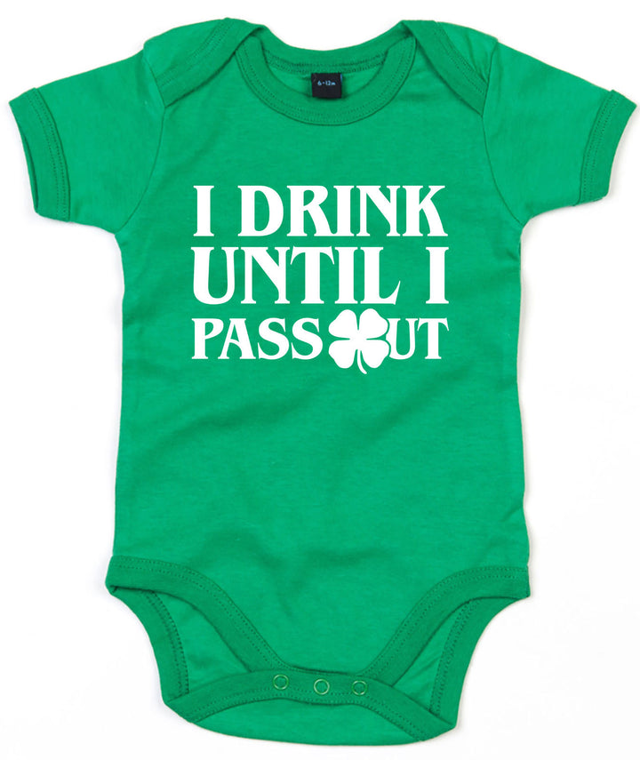I Drink Until I Pass Out Babygrow St Patricks Day Baby Outfit Baby Grow  L190