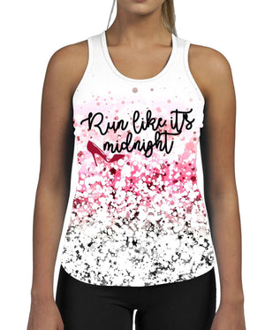 Run Like It's Midnight WOMENS ALL OVER GYM VEST Tank Top Uforia Fitness Sexy