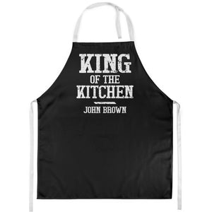 King of the Kitchen Personalised Apron Mens Dad Son Chef Baker Fathers Day L213