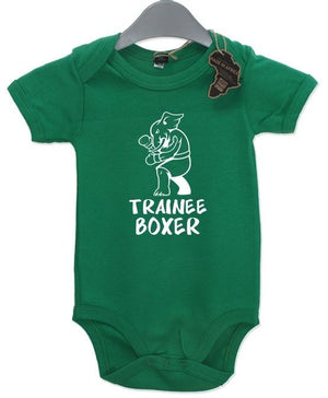 Trainee Boxer Baby Grow BabyGrow Funny Birthday Present Sport Newborn Boxing Kid