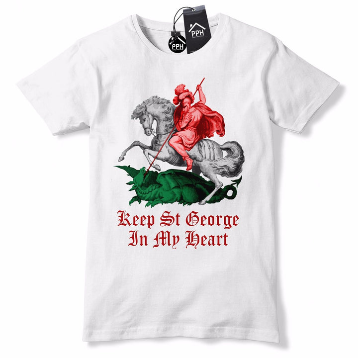 English St George In My Heart Colour T Shirt England shirt Dragon Slayer Top GD5
