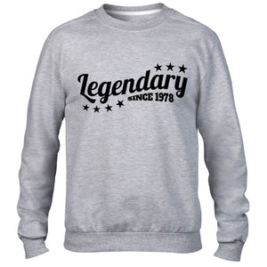 Legendary Since 1978 Sweatshirt Jumper Mens Womens Birthday funny Legend 38 39
