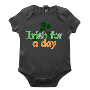 Irish for a Day Drink Ireland St Patricks Day Baby Grow Gift Babygrow Suit P16