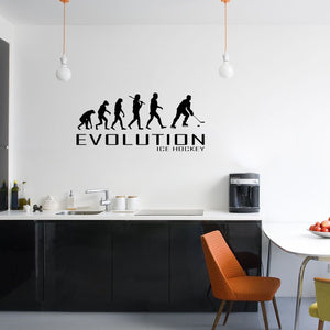 Evolution Of Ice Hockey Wall Sticker Vinyl Decal Decors Art Skates Skating Puck
