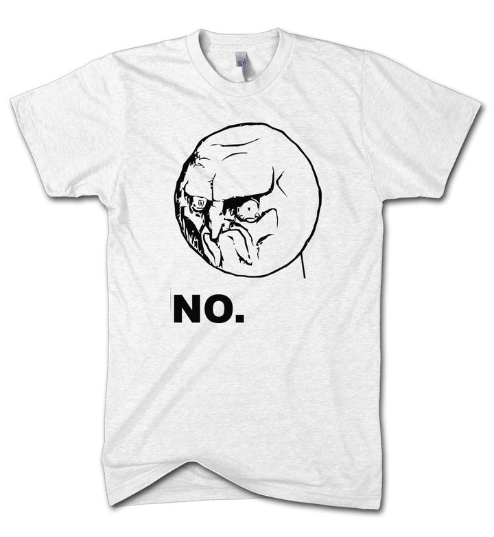 No Meme T Shirt Yes Funny Game Kids Cartoon Face Angry Father Joke Present Women