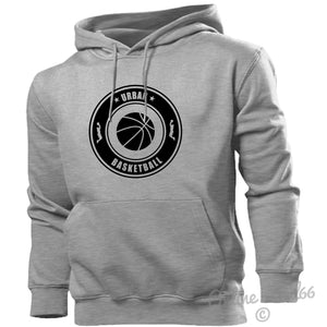 Urban Basketball Hoodie Hoody Men Women Kids Sport Training Gift Present, Main Colour Sport Grey