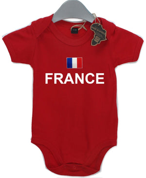 France Gift Baby Grow Birthday Present Unisex BabyGrow Playsuit Football Rugby