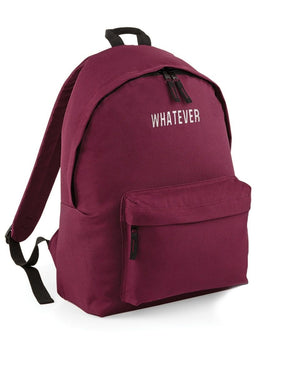 WHATEVER BACK PACK STREET FASHION BAG COLLEGE SCHOOL SWAG DOPE RUCK SACK