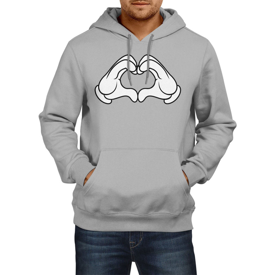 Dope Hands HEART Shape Funny mens HOODIE Love Bale Celebration Womens Hoody