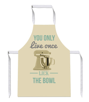 Yolo Lick The Bowl Live Once Luxury Novelty Funny APRON Kitchen Tabard Linen 11