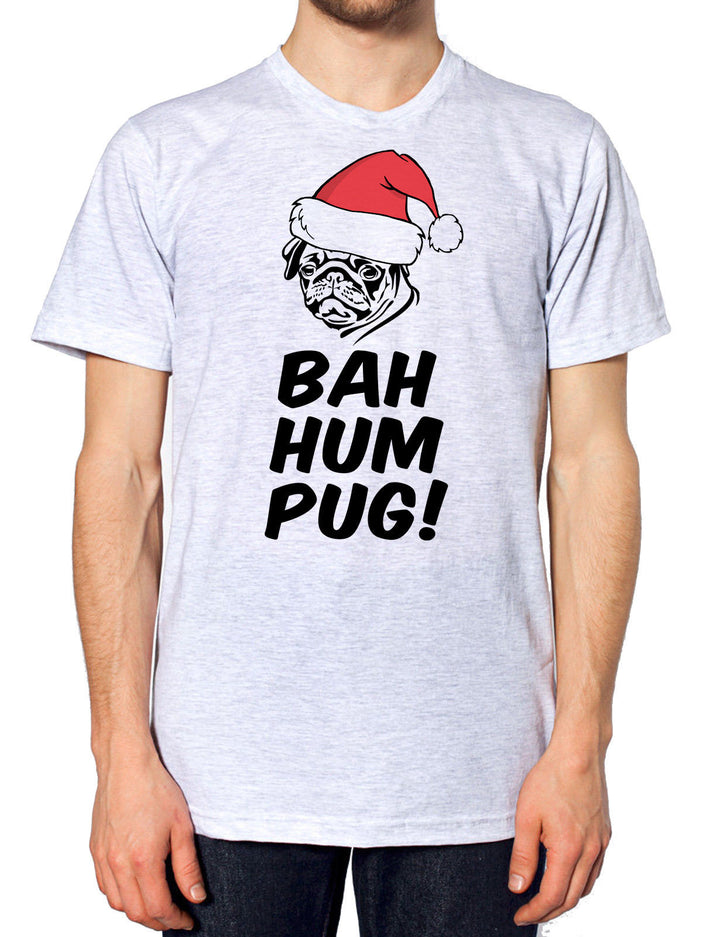 BAH HUM PUG BUG CHRISTMAS T SHIRT MENS KIDS WOMENS GIFT XMAS SECRET SANTA DOG