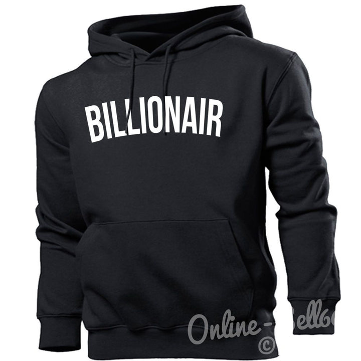 Billionair Funny Hipster HOODIE Boys Mens lil Disobey Womens Swag HOODY TOP Club, Main Colour Black